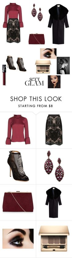 """""""Untitled #874"""" by adeane ❤ liked on Polyvore featuring beauty, Topshop, Fenn Wright Manson, Badgley Mischka, Arthur Marder Fine Jewelry, New Look, ADAM, Clarins and NARS Cosmetics"""