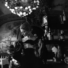 https://flic.kr/p/8yA3LS | Paris 1954 | Capucine in formal evening wear by Hubert de Givenchy.   Image by Genevieve Naylor/CORBIS