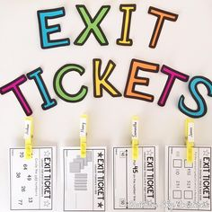 New on the blog ✨ 8 ways to use exit tickets creatively in your classroom  I'll pop the link in our profile if you want to have a read…