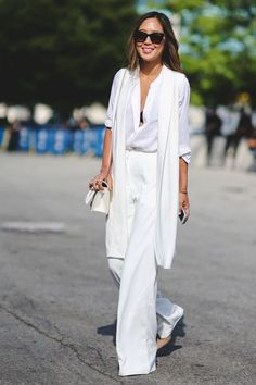 "When you look up ""chic"" in the dictionary, this comes up. #refinery29 http://www.refinery29.com/2015/09/93788/ny-fashion-week-spring-2016-street-style-pictures#slide-56"