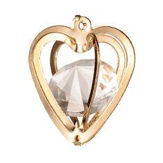 Heart iron glass pendant from Pandahall.com  #pandahall
