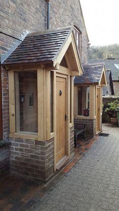 Kind contained car porch design Exclusive Discount reihenhaus Brick Porch, Porch Windows, Front Door Porch, Porch Doors, Side Porch, Porch Uk, Bow Windows, Front Doors, Car Porch Design