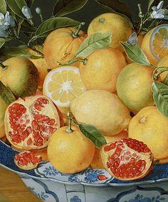 "marcuscrassus:  """" Jacob van Hulsdonck - Still Life with Lemons, Oranges and a Pomegranate (c.1620 - 1640)  "" """