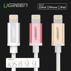 MFi Metal Alloy USB Cable for iPhone Ugreen USB Cable for Lightning to USB Phone Charger Cable for iPhone 6S 5 iPad