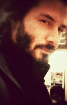 WHY DO WE LOVE KEANU? Because he's 100% up to mischief in this pic. Yep--mischief. :p. (chicfoo) keanu