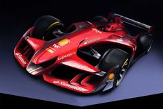 """Ferrari Concept F1Ferrari has revealed an incredible artist's impression of what it says has been created to show how a """"more beautiful"""" Formula 1 car could look."""