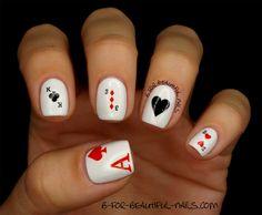 B for Beautiful Nails: Donegal - naklejki wodne - ♥ Poker ♣ Series ♠ #cards_nails #poker_nails