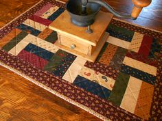Country Colors Quilted Table Runner/ Scrap Quilt by RubysQuiltShop