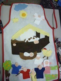 Os aventais para contar história bíblica são recursos eficientes. Crianças e adultos se entregam a uma história criativa.   Seguem algumas ...