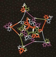 Tatting: Tatted star bright. Free pattern diagram printable