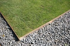 use non galvanised mild steel edging to contain lawn gravel areas and… Timber Garden Edging, Metal Lawn Edging, Metal Landscape Edging, Steel Edging, Gravel Path, Garden Styles, Lawn And Garden, Fence Garden, Backyard Landscaping