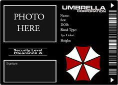 Resident Evil Umbrella Corp ID by romanceFUNERAL on deviantART