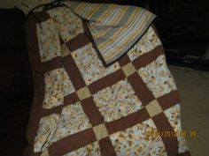 Quilt made for my Son and Daugther-in-law I loved the colors in it also made drapes to match....