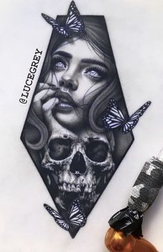 Flower Cover Up Tattoos, Pin Up Tattoos, Girl Tattoos, Fake Skin Tattoo, Dark Tattoo, Lion Tattoo Design, Tattoo Designs, Calavera Tattoo, Face Tattoos For Women