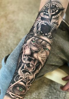 Half Sleeve Tattoos Forearm, Forearm Tattoo Quotes, Lion Tattoo Sleeves, Wolf Tattoo Sleeve, Half Sleeve Tattoos For Guys, Cool Arm Tattoos, Best Sleeve Tattoos, Forarm Tattoos, Tattoo Sleeve Designs