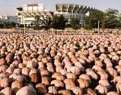 Spencer Tunick (Museum of Contemporary Art Cleveland) I am also in this installation in Cleveland Ohio 26 June 2004!