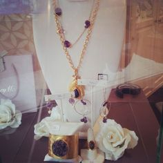 #Purple #crush #today around the #boutique. #Rockstar #jewelry by #LindseyMarie is definitely a #musthave! Get 20%OFF on these #awesome pieces on www.lindseymarie.com  #gold #accessories #fashionjewelry #style #swissjewelry #switzerland #geneva #carouge Gold Accessories, Geneva, Switzerland, Fashion Jewelry, Gold Necklace, Boutique, Purple, Awesome, Style