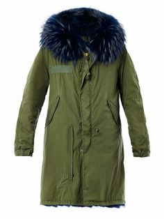 MR & MRS FURS Fur hood parka coat