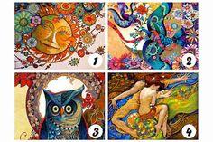 Mira las 4 cartas de color y permítele a tu intuición que elija su carta favorita. Por favor no elijas por elegir, escoge la carta que más te atraiga