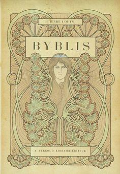 Henri Caruchet, illustrator. Byblis by Pierre Louÿs, 1901. (book cover)