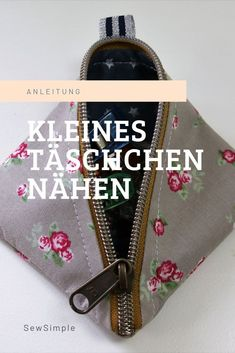 Schnell & einfach zuckersüß: Kleines Täschchen nähen Sewing a small bag: sewing a small bag with a zipper is quick. You do not need a pattern for this: Take a look at my instructions and get started! Diy Sewing Projects, Sewing Projects For Beginners, Knitting For Beginners, Sewing Hacks, Sewing Tutorials, How To Start Knitting, Easy Knitting, Patchwork Bags, Little Bag