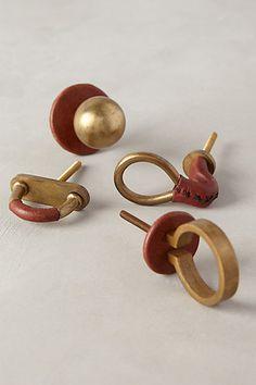 Equestrian Knob, Circle Pull - anthropologie.com | iron & leather | 12.00 ea.
