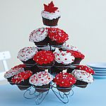 O Canada Cupcakes. From Canadian Living magazine: www.canadianliving.com/food/baking_and_desserts/o_canada_cupcakes.php