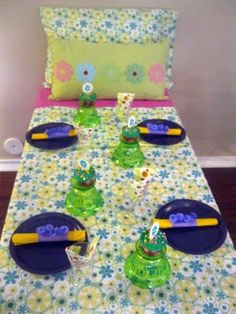 Table idea for slumber party