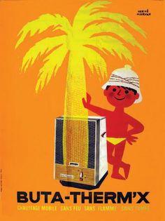 Buta-Therm'x - illustration de Hervé Morvan - Chauffage mobile sans feu, sans flamme, sans fumée -