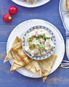 This dip recipe combines Greek yoghurt with lemon and tahini, a perfect accompaniment to crudites and flatbreads.