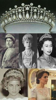Cambridge Lover's Knot Tiara- Princess Antonia of Barvaria , Queen Mary, Queen Elizabeth II, Lady Diana Princess of Wales & Catherine Duchess of Cambridge British Crown Jewels, Royal Crown Jewels, Royal Crowns, Royal Tiaras, Royal Jewelry, Tiaras And Crowns, Jewellery, Queen Elizabeth Jewels, Elizabeth Ii