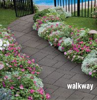 Patio and walkway ideas (guessing good for where the dogs jump off the deck).