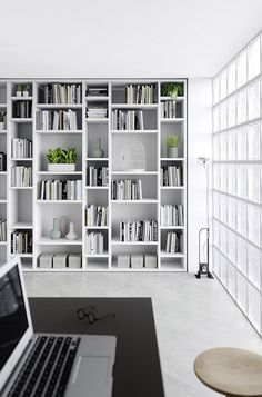 Looking for some inspiration for your living room shelves? These ideas will help you design the perfect storage to fit into your space. Bookshelves in Living Room Shelf Ideas. Home Library Design, Home Office Design, House Design, Best Interior Design, Interior Design Living Room, Living Room Designs, Bookshelves In Living Room, Built In Bookcase, Wall Bookshelves