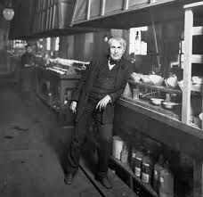 Edison poses for photo in one of his buildings Alva Edison, Poses For Photos, History, Learning, Inventors, Mistakes, Effort, Entrepreneur, Buildings