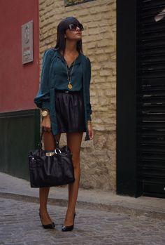 ADOREBAG  , Blanco in Shirt / Blouses, Pull & Bear in Skirts, ADOREBAG in Bags, Massimo Dutti in Heels / Wedges