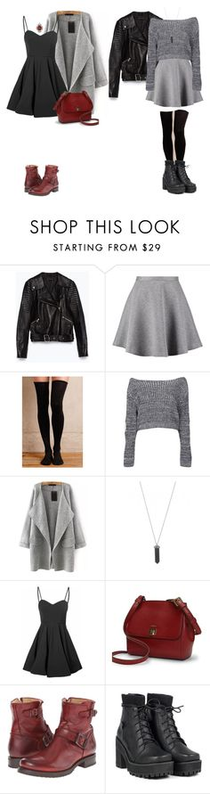 """."" by araqs ❤ liked on Polyvore featuring Zara, Tiger of Sweden, Hansel from Basel, Boohoo, Karen Kane, Glamorous, Lauren Ralph Lauren and Frye"