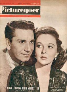 Richard Conte & Susan Hayward - Picturegoer Magazine [United Kingdom] (29 October 1949)