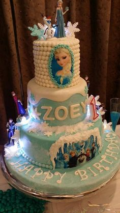 Disney Frozen Themed Cake - My God Daughter's First Birthday - Disney Frozen Themed PArty