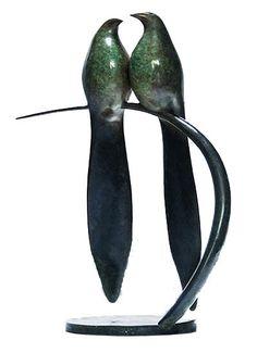Vadim Tuzov Bronze Sculpture of Two Birds Two Birds, Bronze Sculpture, Joy, Gallery, Dublin, Apartments, Ireland, Animals, Animales