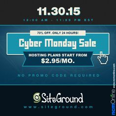 New orders receive off SiteGround web hosting plans. Cyber Monday Sales, Coupon Codes, Coupons, Coding, How To Plan, Coupon, Programming