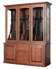 Amish Deluxe 20 Gun Cabinet