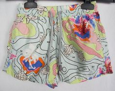 VILEBREQUIN Boys Swim Trunks 6 Turtles Ocean Map Island Theme Board Shorts