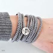 Items similar to Crochet wrap bracelet.Crochet bracelet on Etsy Crochet Crafts, Yarn Crafts, Crochet Projects, Knit Crochet, Crochet Bracelet, Diy Bracelet, Bijoux Diy, Learn To Crochet, Crochet Accessories