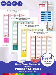 Planner Sticker Categories – Printables by Design Weekly Meal Planner, Free Planner, Happy Planner, Planner Ideas, Free Erin Condren, Erin Condren Life Planner, Printable Planner Stickers, Diy Stickers, Printables