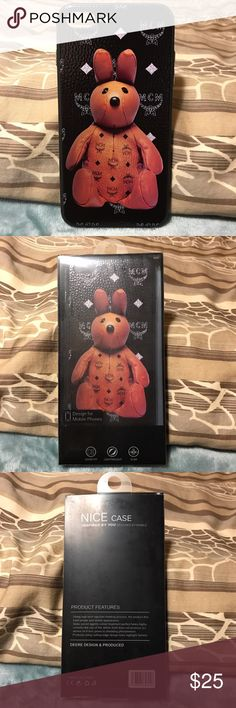 📱MCM📱Bear IPhone 7+ Phone Case New with cover. Plastic material (price reflects authenticity) Accessories Phone Cases