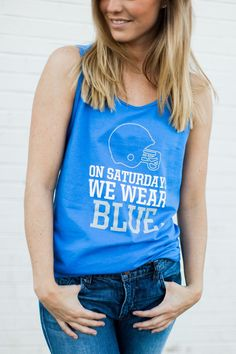 Inspired by mean girls this tank is perfect for Kentucky and Memphis Tigers Fan - Gildan ultra cotton tank in royal blue - 6.1 oz. 100% pre-shrunk cotton - Double-needle stitching for durability - Dur
