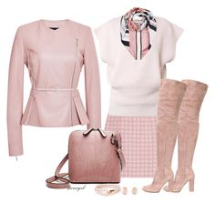 """""""Pastel For Winter Contest"""" by sherryvl ❤ liked on Polyvore featuring Alexander Lewis, Chloé, Gianvito Rossi, Elie Saab, Weekend Max Mara, Kenneth Jay Lane and MIANSAI"""