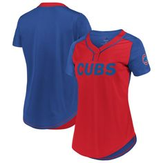 6ce96b539 SIZE SMALL Women s Chicago Cubs Majestic Red Royal League Diva Mesh T-Shirt