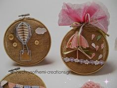 MY_CRAFT_AND_ART_ CREATIONS: VINTAGE ΜΠΟΜΠΟΝΙΕΡΑ ΒΑΠΤΙΣΗΣ Hot Air Balloon, Nursery Room, Balloons, Projects To Try, Easter, Christmas Ornaments, Holiday Decor, Kids, Crafts