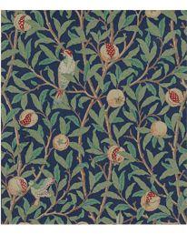 Bird & Pomegranate Turquoise/Coral från William Morris & Co